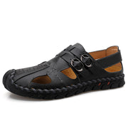 Hand-sewn plus size sandals outdoor fashion shoes soft men's shoes