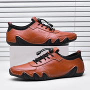Men's breathable light casual shoes handmade leather shoes