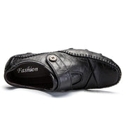 Men's comfortable handmade leather casual Velcro shoes