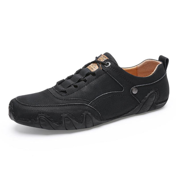 Men's portable sewing leather shoes casual shoes