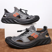 Men's comfortable casual shoes hollow out beach sandals