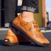 Man's  vintage comfy casual shoes handmade leather shoes
