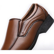 Men's hand-washing men's shoes a pedal shoes leather shoes small square head leather shoes