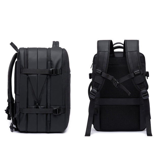 Mens' New business backpack male travel bag waterproof backpack large capacity expandable male computer backpack customization