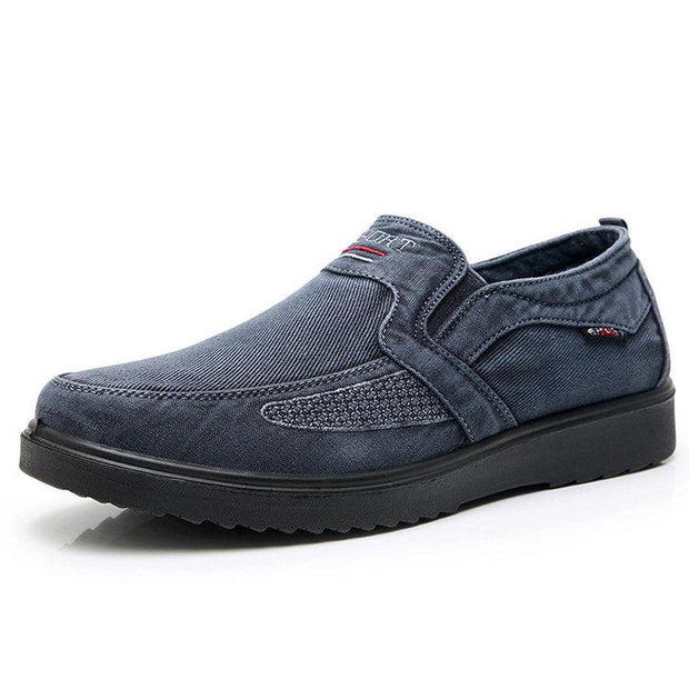 Men Wash Canvas Old Peking Style Light Weight Slip On Casual Shoes