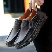 Men Cow Leather Comfort Soft Soft Slip On Casual Loafers