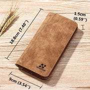 Men's Vertical PU Leather Wallet 13 Card Slots Card Holder Casual Bill Holder