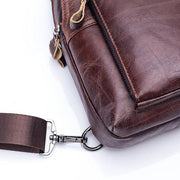 Men's Genuine Leather Business Casual Chest Bag Crossbody Bag