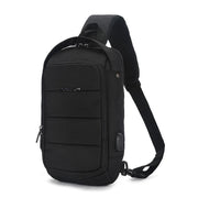 Men's usb charging shoulder bag cross-body bag casual waterproof shoulder cross-body bag