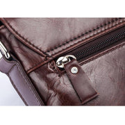 Men's BULLCAPTAIN Leather Shoulder Crossbody Head Layer Cowhide Business Casual iPad Computer Briefcase