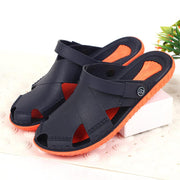 Men's seaside beach hole shoes soft thick bottom non-slip summer half-toe bag sandals beach shoes garden shoes