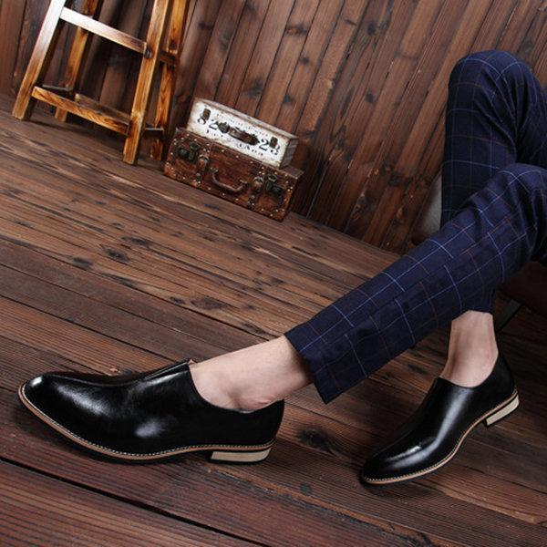 Men Stylish Pointed Toe Business Formal Dress Shoes