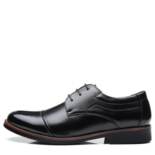 Men Cap Toe Leather Non Slip Large Size Casual Formal Shoes