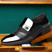 Large Size Men Stylish Splicing Slip On Business Formal Dress Shoes