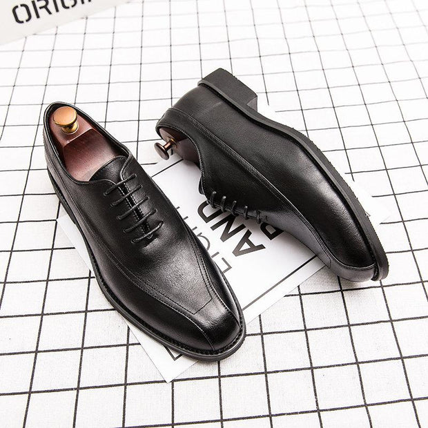 Men Retro Color Microfiber Leather Non Slip Business Casual Formal Shoes