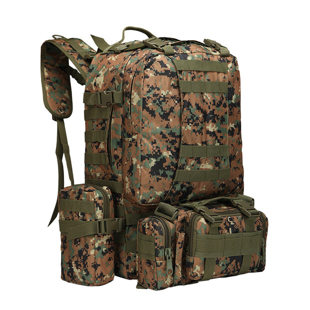 Men's outdoor sports climbing backpack donkey travel large capacity multifunctional tactical army camouflage camping combination backpack
