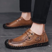 Men's leather wild soft bottom youth lazy casual leather shoes