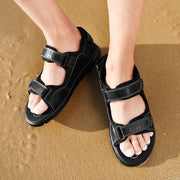 Men's leather sandals leather outdoor leather beach shoes