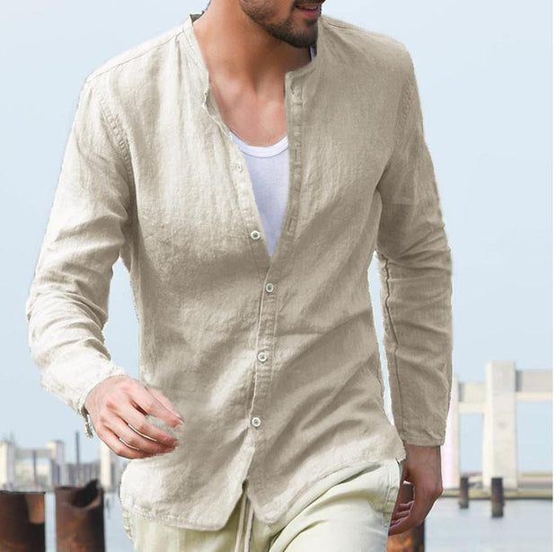 Men's cotton long sleeve shirts