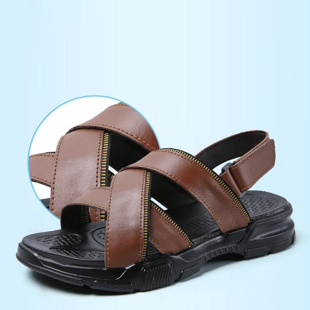 Men's slip retro outdoor leisure breathable sandals