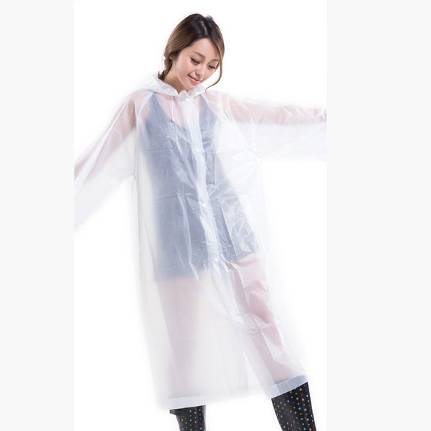 Rain Poncho for Adults  Reusable Raincoat Emergency Rain Gear Jacket
