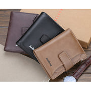 PU Leather Business Multi-function Trifold Casual Zipper Wallet For Men