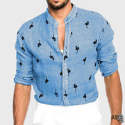 Men's Stand Collar Shirts & Tops