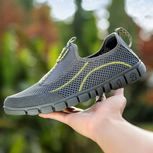 Men's Mesh Breathable Non Slip Outdoor Slip On water resistant Casual Sneakers