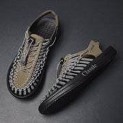 Men's Woven Fishermen Sandals Breathable Water Beach Casual Sandals