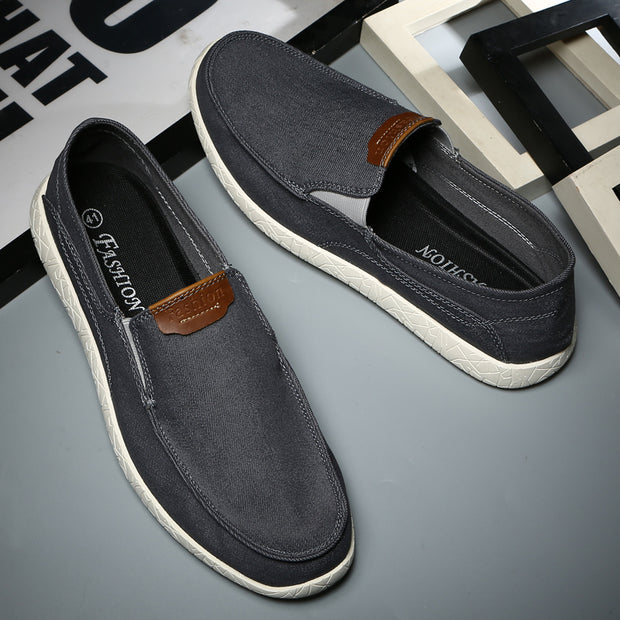 Men's Fashion Breathable Solid Round Toe Leisure Canvas Shoes