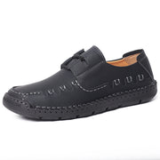 Men's Lace Up Non Slip Vintage Comfy Leather  Casual Shoes