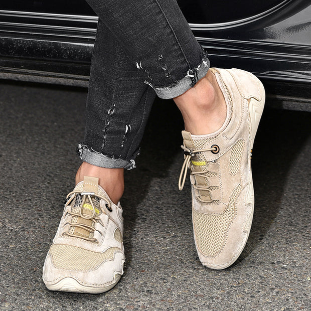 Man's Vintage Comfy Casual Shoes Outdoor Hiking Suede Sneakers