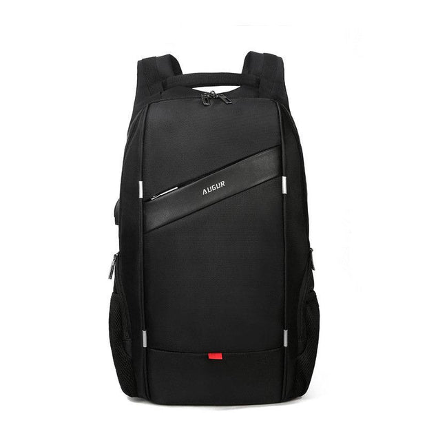 PU 15.6 Laptop USB Charging Water Repellent School Backpack Outdoor Casual Business Bag For Men