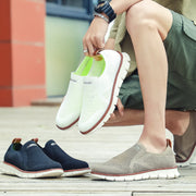 Men's Comfy Knitted Fabric Breathable Slip On Casual Shoes