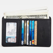 Rfid Slim Bifold Genuine Leather Classic Wallet