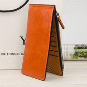 Ultra Thin 16 Card Holder Zipper Long Purse Candy Color Wallet