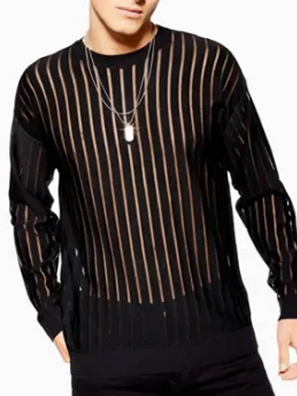 Men's Fashion Transparent Striped T-shirt