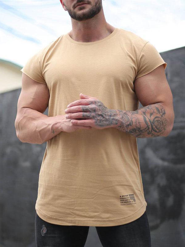 Summer Fitness Exercise Muscle Men's Tops