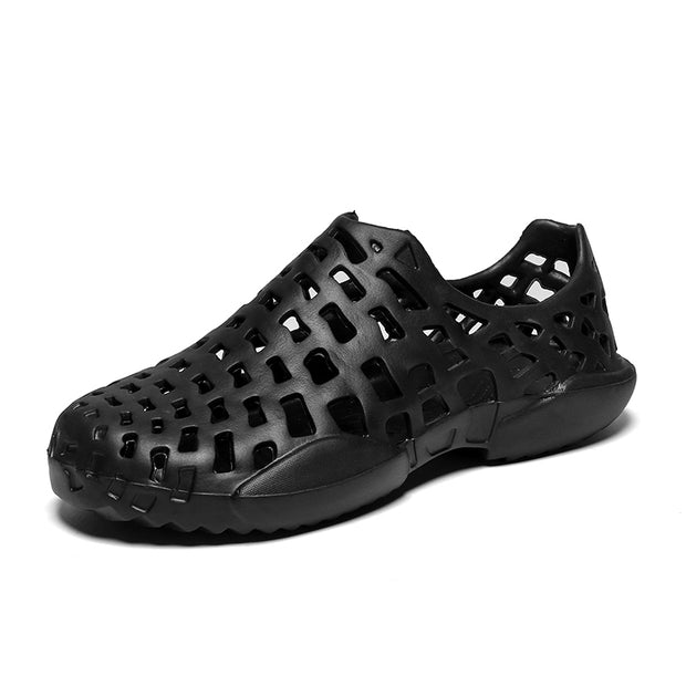 Men's Hole Breathable Elastic Slip On Water Beach Sandals