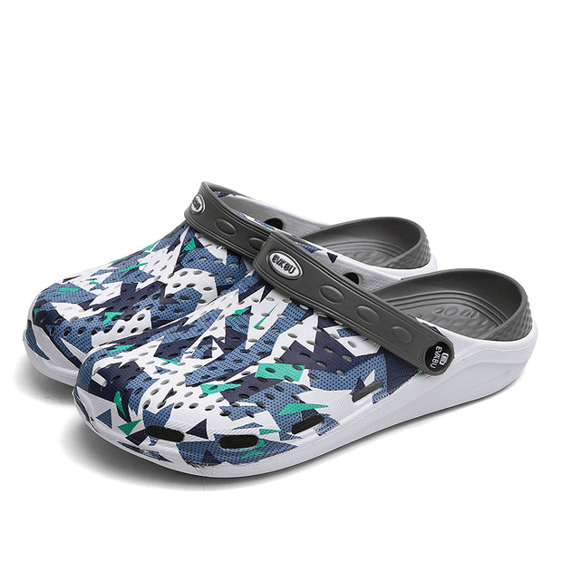 Men's beach baotou hollow lightweight breathable camouflage sandals
