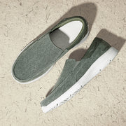 Men's Low Top Canvas Breathable Flat Slip On Casual Shoes