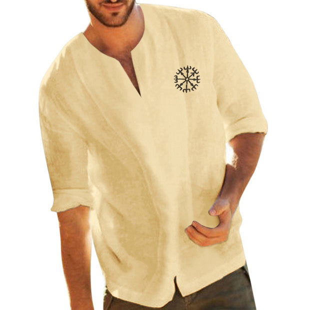Men's casual collage sleeve men's T-shirt