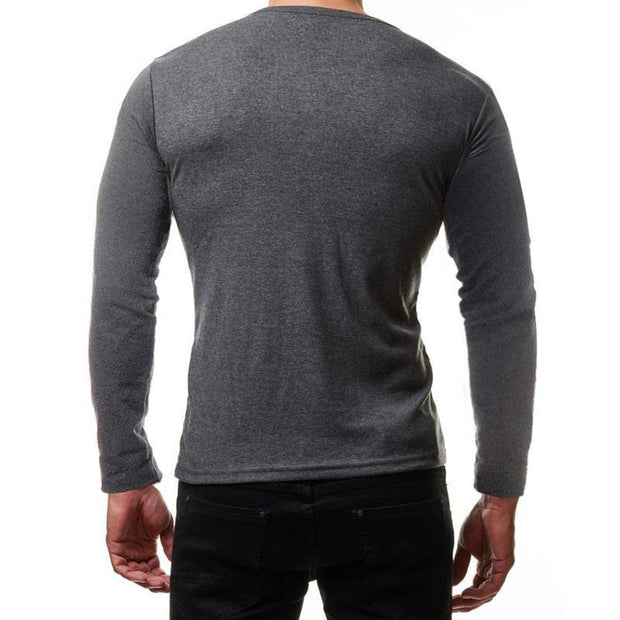 Metal Button Long Sleeve T-shirt