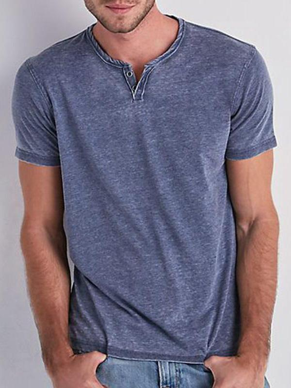 Slim Solid Color Short Sleeve T-shirt