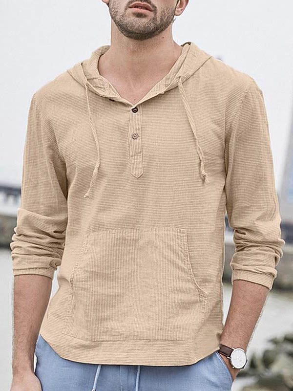 Solid Slim Long Sleeve Casual Shirt