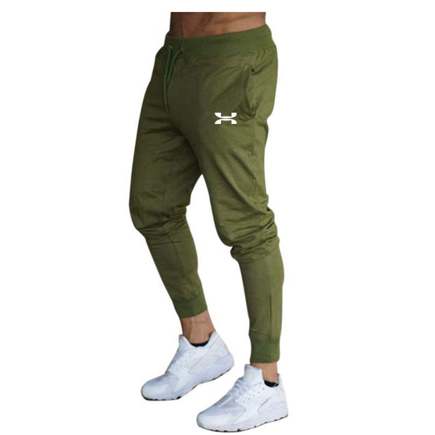 Men's Casual Trousers Male Fitness Workout Cotton Track Pants