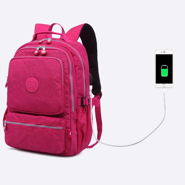 Multi-pocket Waterproof USB Charging Port School Travel Backpack(Buy 3 Get $10 Off By Code:  BUY3)