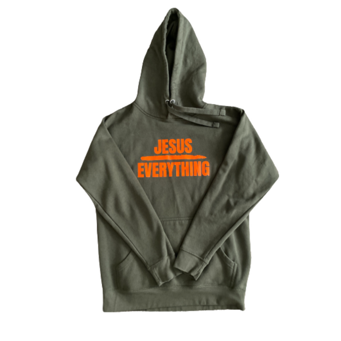 Military Green w/ Orange Letters