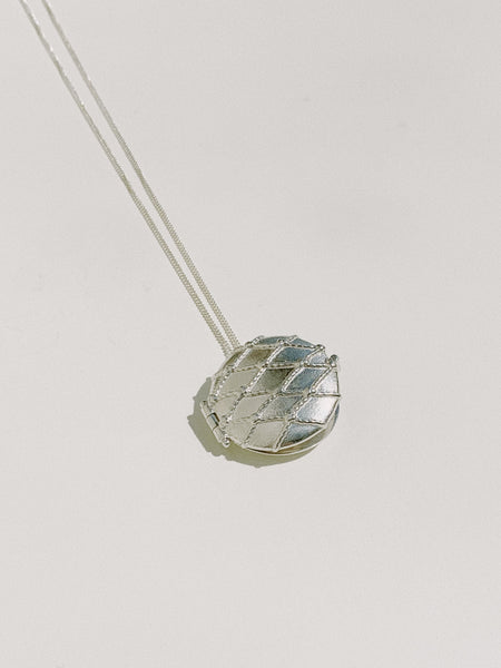 Netted Round Locket