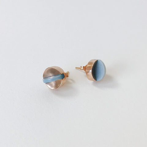 Aten Studs in Rose Gold